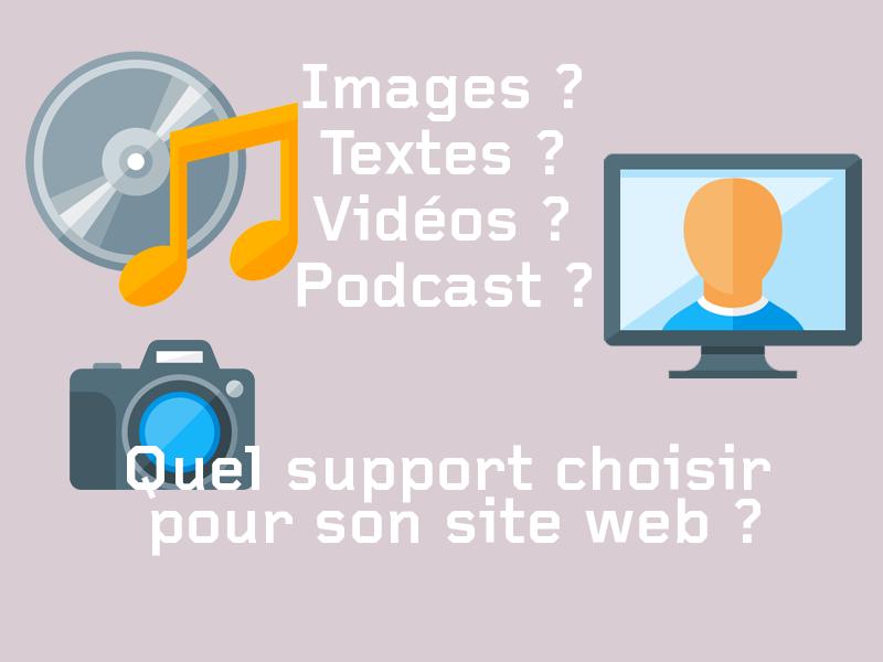 Image, texte, vidéo, quels médias choisir sur internet ?