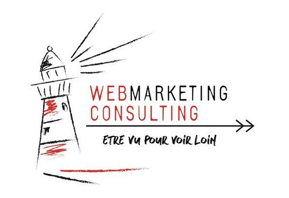 LOGO WebMarketing Consulting , agence web spécialisée dans la creation de site internet WordPress sur mesure et en référencement naturel