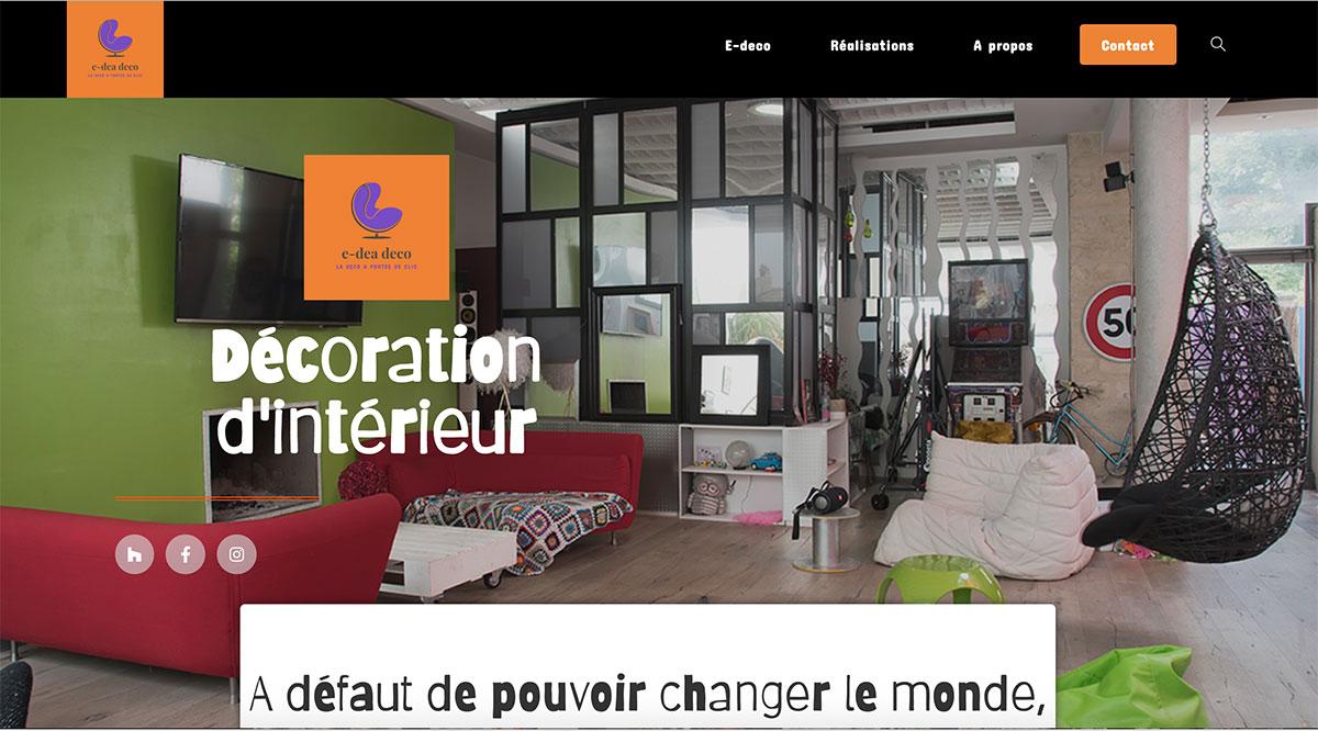 Réalisation site WordPress e-dea déco en région parisienne