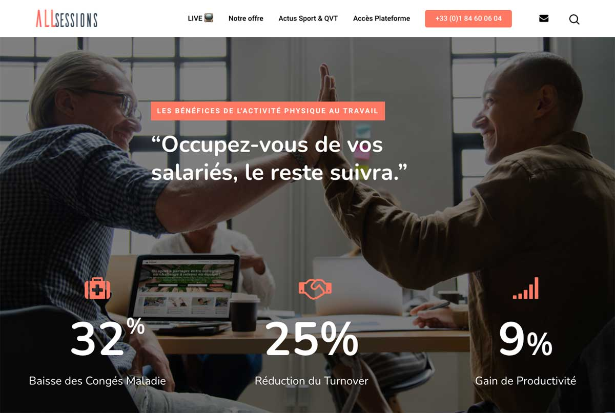 AllSessions - Coordination projet, Planning editorial, SEO