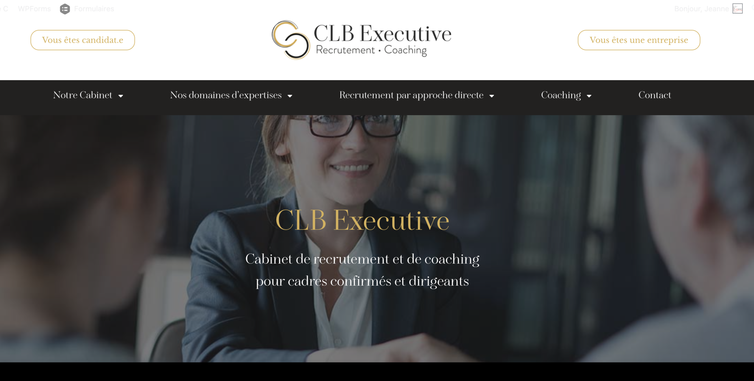 Creation site CLB Executive