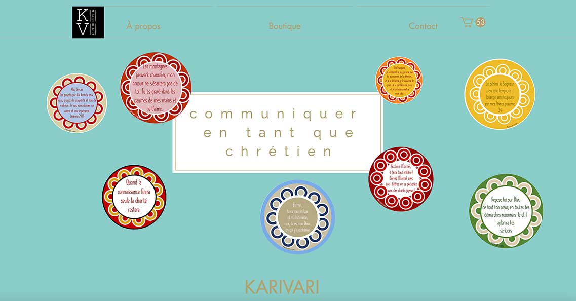 Site e-boutique Karivari