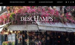 Réalisation du site WordPress Deschamps Fleuriste à Paris